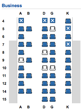 Business Class Seating Plan. SkyLuxTravel Blog. SkyLux - Discounted Business and First Class Flights