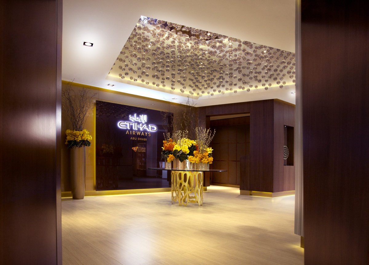 Etihad Abu Dhabi First Class Lounge: Entrance. SkyLuxTravel Blog. SkyLux - Discounted Business and First Class Flights