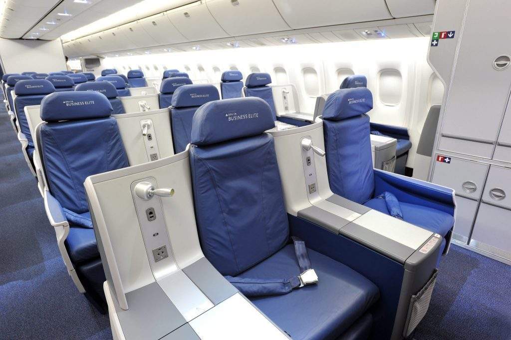 Delta Business Class seat. SkyLuxTravel Blog. SkyLux - Discounted Business and First Class Flights