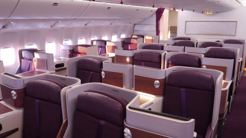 Thai Airways Royal Silk Business Class seat. SkyLuxTravel Blog. SkyLux - Discounted Business and First Class Flights