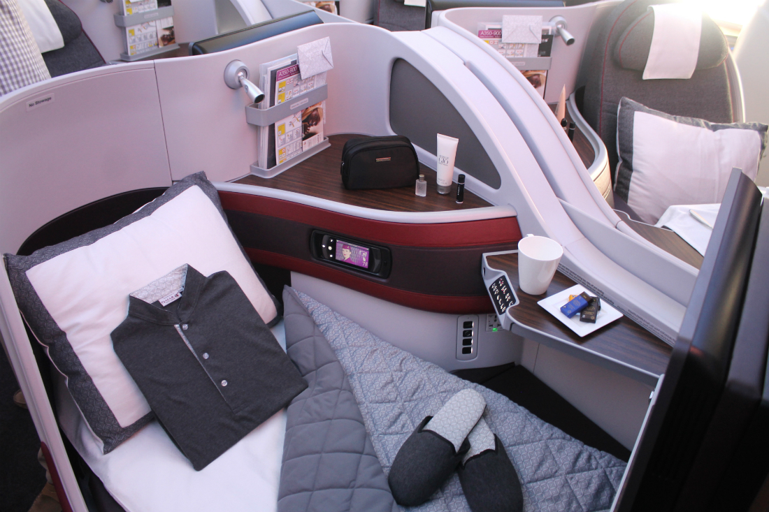 Qatar Airways Business Class Airbus A350. SkyLuxTravel Blog. SkyLux - Discounted Business and First Class Flights