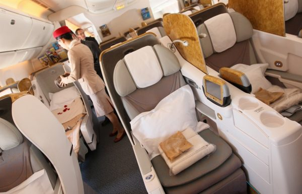 10 Longest Business Class Flights: Emirates Business Class Flight Dubai - Auckland. SkyLux - Discounted Business and First Class Flights