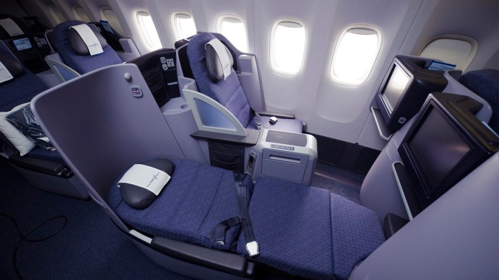 Which Airlines Have Flat Bed Seats in Business Class? United Airlines Flat Bed Seat. SkyLux - Discounted Business and First Class Flights