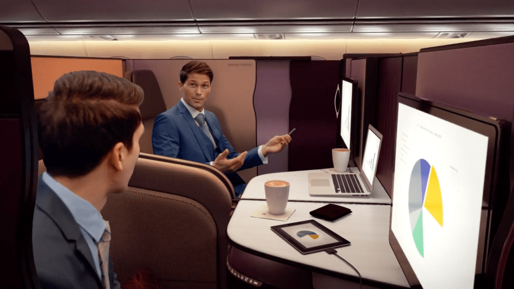 Qatar Airways Qsuites - The New Way to Travel Business Class. Keeping up with Business Talks Aboard. SkyLux - Discounted Business and First Class Flights.