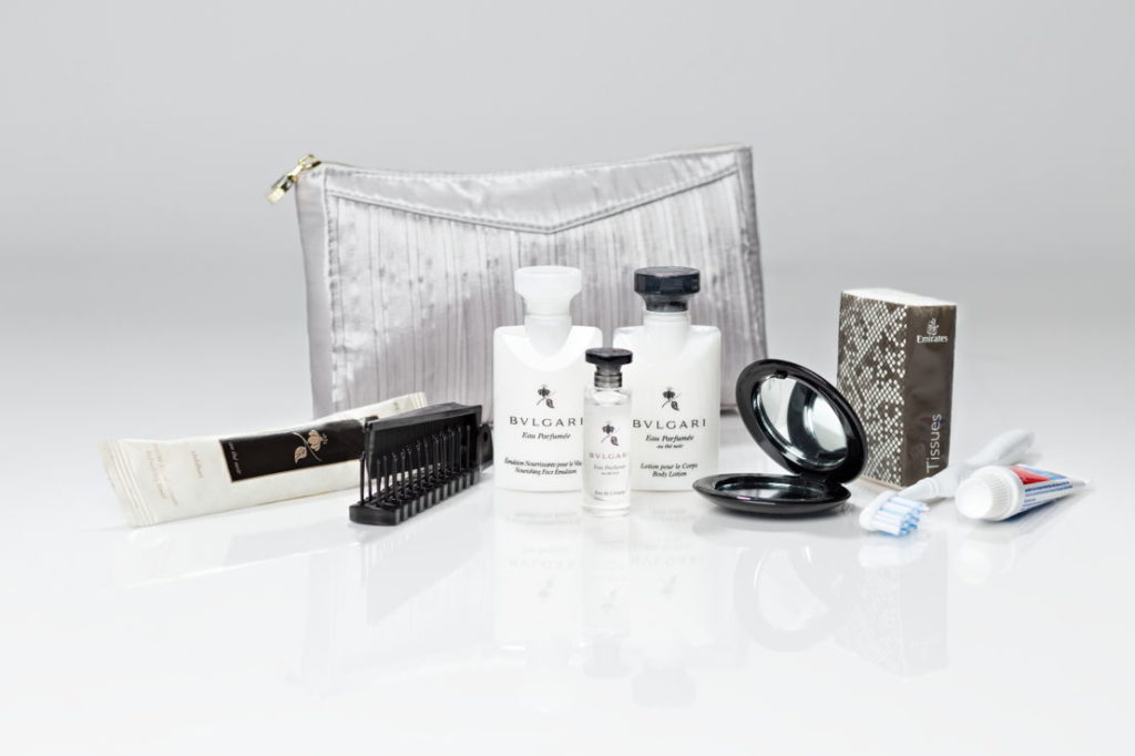 Business Woman Flight Must-Haves: Business Class Emirates Bulgari Amenity Kit. SkyLux - Discounted Business and First Class Flights.