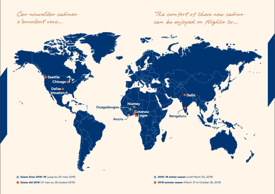 Air FranceNew A330 Business Class Routes.