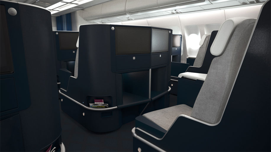 Air France New A330 Business Class Cabin.